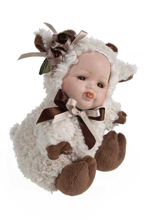 """Игрушки-куклы Красный куб Кукла мягконабивная """"Маленькая овечка"""""""