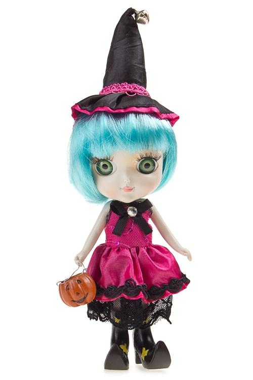 """Куклы ведьмы Красный куб Кукла декор. """"Ведьмочка с тыковкой"""""""