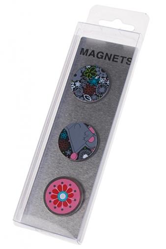 """Магниты Красный куб Набор держателей-магнитов """"Веселая мышка"""""""