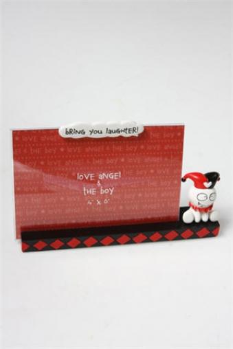 """Пластиковые фоторамки Красный куб Рамка для фото """"Рожденный хохотать"""""""