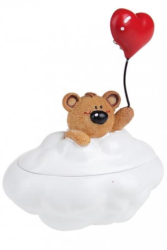 """Шкатулки для украшений Красный куб Шкатулка """"Мишка на облаке"""""""