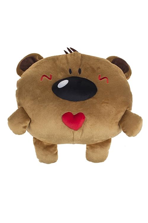 """Плюшевые игрушки Красный куб Муфта-игрушка """"Мишутка с сердцем"""""""