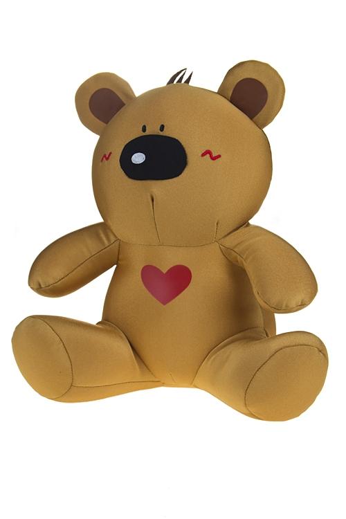 """Плюшевые игрушки Красный куб Игрушка/подушка-подголовник """"Мишка в сердцах"""""""