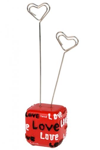 """Держатели-зажимы для фото Красный куб Держатель для фото """"Любовь навсегда"""""""