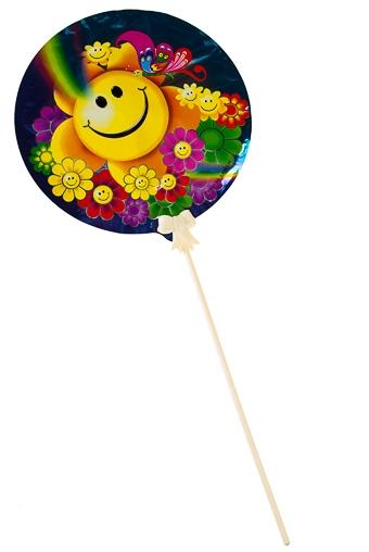 """Воздушные шары Красный куб Шар самонадувающийся """"Веселый смайлик"""""""