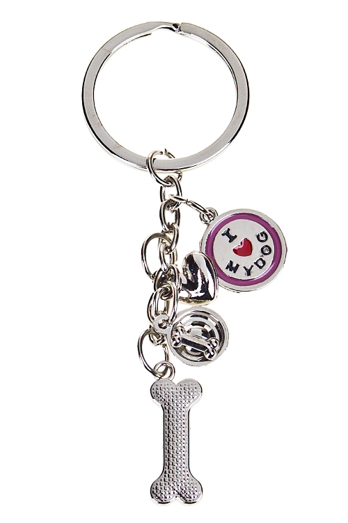 """Сувениры для женщин Красный куб Брелок """"Я люблю свою собаку"""""""