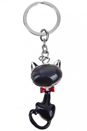 """Сувениры для женщин Красный куб Брелок """"Игривый котик"""""""