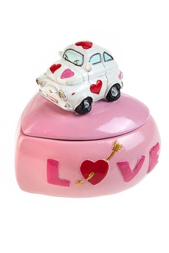 """Шкатулки для украшений Красный куб Шкатулка """"Машина любви"""""""