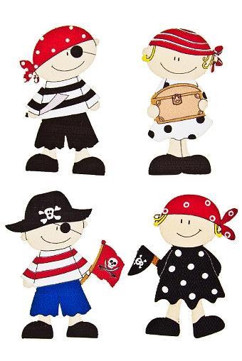 """Наклейки и аппликации Красный куб Набор наклеек """"Пираты и пиратки"""""""