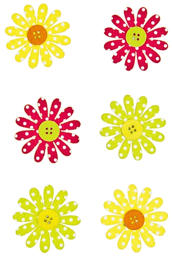 """Наклейки и аппликации Красный куб Набор наклеек """"Разноцветные цветочки"""""""