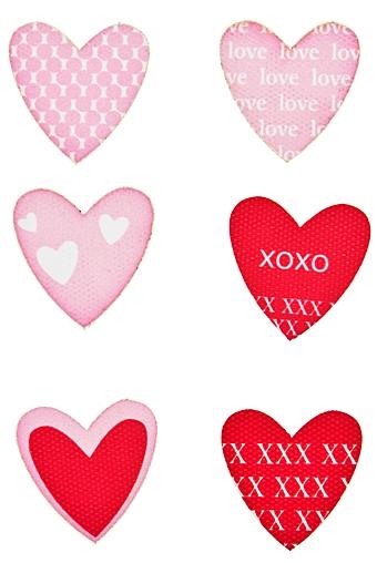 """Наклейки и аппликации Красный куб Набор наклеек """"Розовые сердечки"""""""