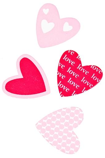"""Магниты Красный куб Набор держателей-магнитов """"Розовые сердца"""""""
