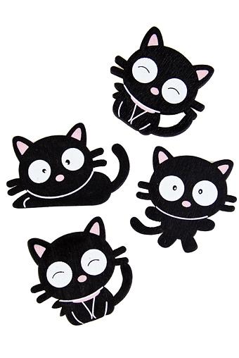"""Магниты Красный куб Набор держателей-магнитов """"Счастливые котята"""""""