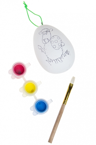 """Наборы для рисования Красный куб Набор для рисования """"Яйцо с овечкой"""""""