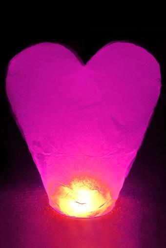 """Светящиеся украшения Красный куб Фонарик летающий """"Сердце"""""""
