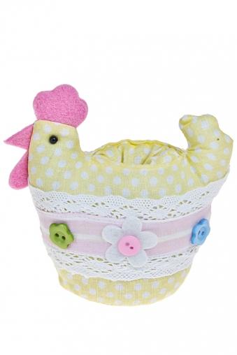 """Подставки для яиц Красный куб Подставка для яйца """"Курица с пуговками"""""""
