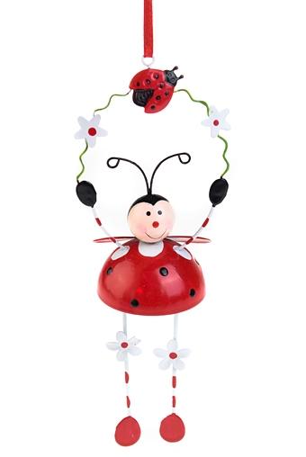"""Декоративные гирлянды и подвески Красный куб Сувенир-подвеска """"Полет божьей коровки"""""""