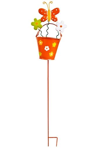 """Сувениры на палке Красный куб Сувенир """"Садовая букашка в ведерке"""""""