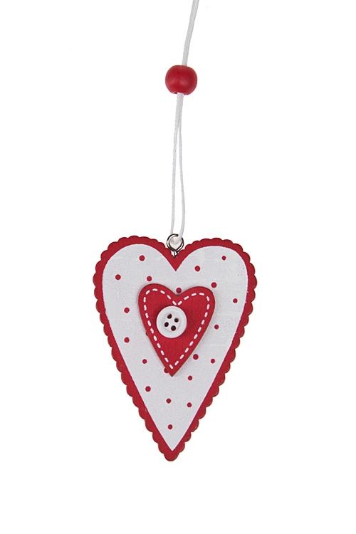 """Декоративные гирлянды и подвески Красный куб Украшение декоративное """"Двойное сердце"""""""