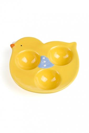 """Тарелки и пиалы Красный куб Блюдо для 3-х яиц """"Птенчик"""""""