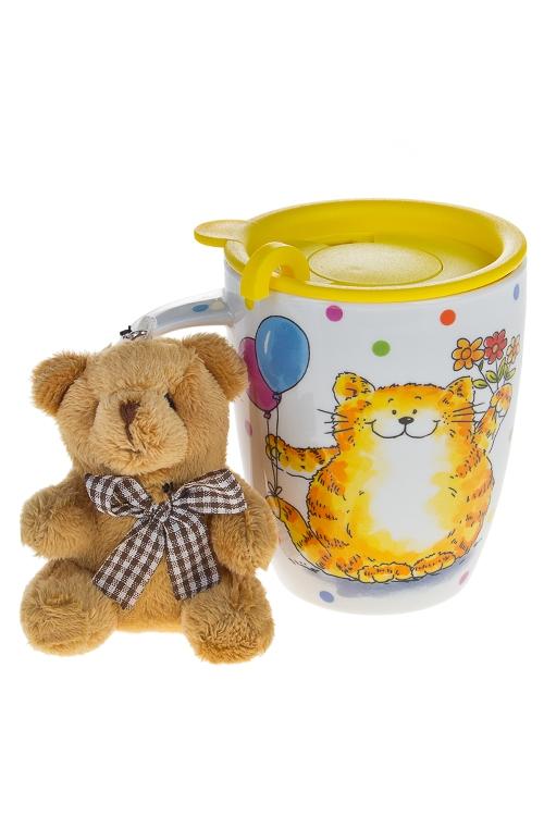 """Чайные пары Красный куб Набор подарочный """"Котик"""""""