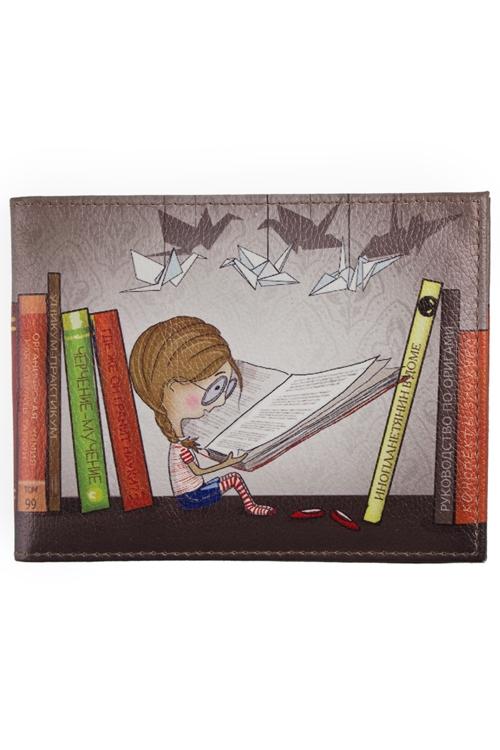"""Обложки для зачетки Красный куб Обложка для зачетной книжки """"Девочка с книгой"""""""
