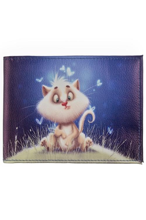 """Обложки для зачетки Красный куб Обложка для зачетной книжки """"Волшебный котик"""""""