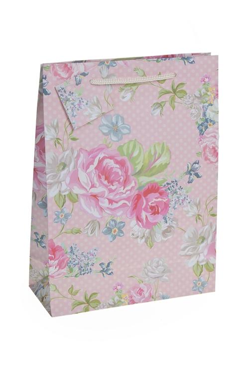"""Пакеты на любой повод Красный куб Пакет подарочный """"Садовые розы"""""""
