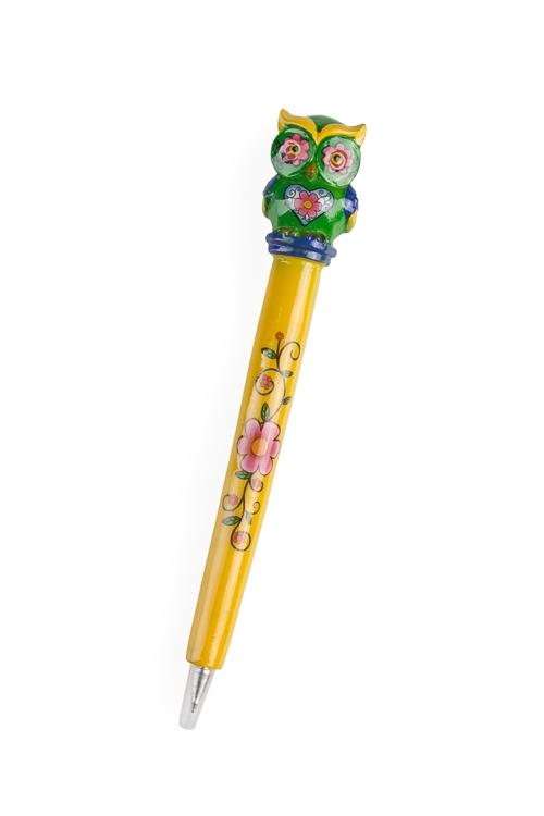 """Ручки и карандаши Красный куб Ручка шариковая """"Расписная сова"""""""