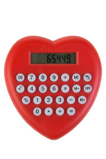 """Канцелярские мелочи Красный куб Калькулятор """"Сердце"""""""