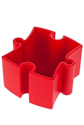 """Подставки для карандашей Красный куб Подставка для канц. принадл. """"Пазл"""""""