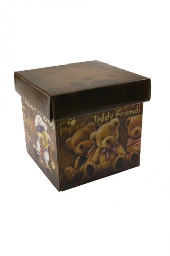 """Квадратные подарочные коробки Красный куб Коробка подарочная """"Мой друг медвежонок"""""""