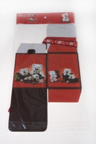 """Подарочные коробки Красный куб Коробка упаковочная """"Белые мишки"""""""