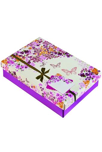 """Узкие подарочные коробки Красный куб Коробка подарочная """"Цветочный вальс"""""""