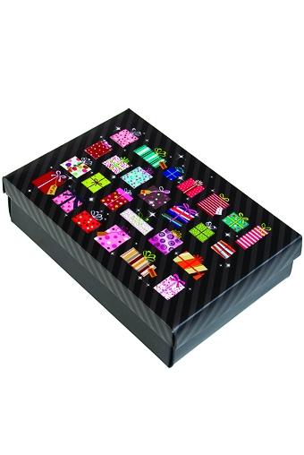 """Узкие подарочные коробки Красный куб Коробка подарочная """"Много подарков"""""""