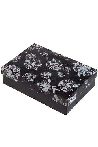 """Узкие подарочные коробки Красный куб Коробка подарочная """"Бриллианты"""""""
