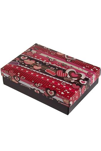 """Узкие подарочные коробки Красный куб Коробка подарочная """"Сладкие сердца"""""""