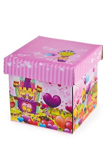"""Квадратные подарочные коробки Красный куб Коробка подарочная """"Леденцовый рай"""""""
