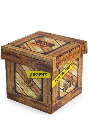 """Квадратные подарочные коробки Красный куб Коробка подарочная """"Секретный груз"""""""