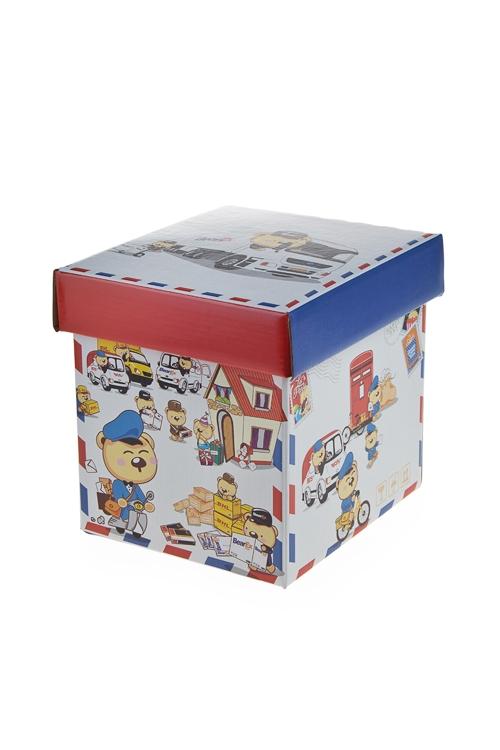 """Квадратные подарочные коробки Красный куб Коробка подарочная """"Почтальон"""""""