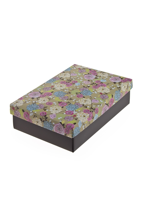 """Узкие подарочные коробки Красный куб Коробка подарочная """"Нежные розы"""""""