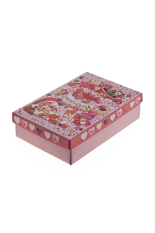 """Узкие подарочные коробки Красный куб Коробка подарочная """"Розовые сладости"""""""