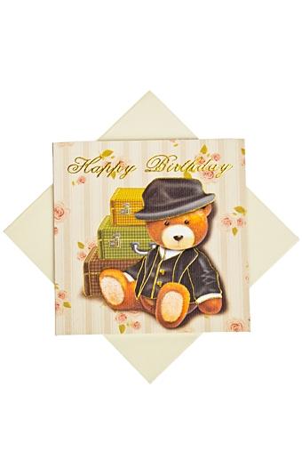 """Открытки «С Днем рождения» Красный куб Открытка подарочная """"Чемоданное настроение"""""""