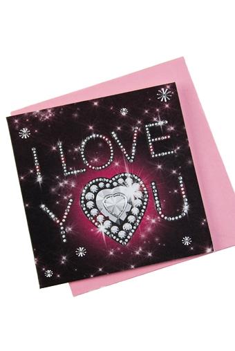 """Открытки про Любовь Красный куб Открытка подарочная """"Я тебя люблю"""""""
