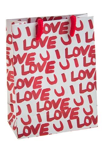 """Пакеты про Любовь Красный куб Пакет подарочный """"Я люблю тебя!"""""""