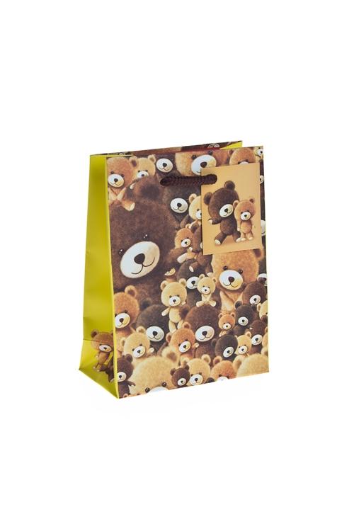 """Пакеты на любой повод Красный куб Пакет подарочный """"Плюшевые мишки"""""""