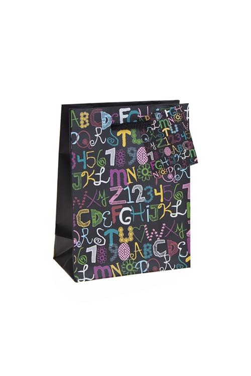 """Пакеты на любой повод Красный куб Пакет подарочный """"Каллиграфия"""""""
