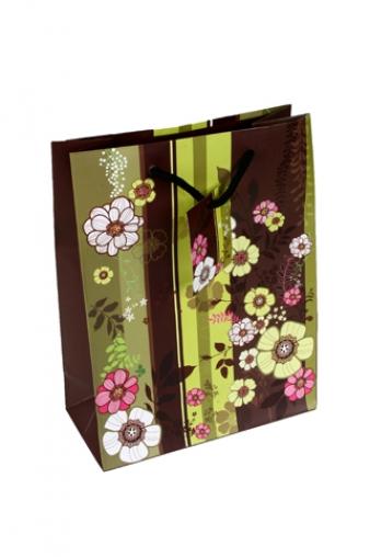 """Пакеты на любой повод Красный куб Пакет подарочный """"Весенние цветы"""""""