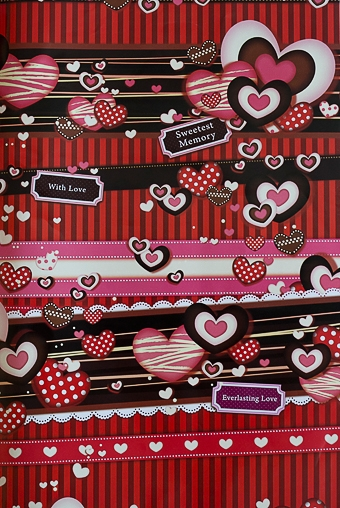"""Упаковочная бумага Красный куб Бумага упаковочная """"Сладкие сердца"""""""