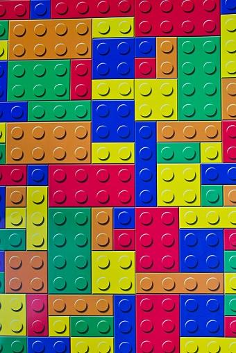 """Упаковочная бумага Красный куб Бумага упаковочная """"Разноцветный конструктор"""""""